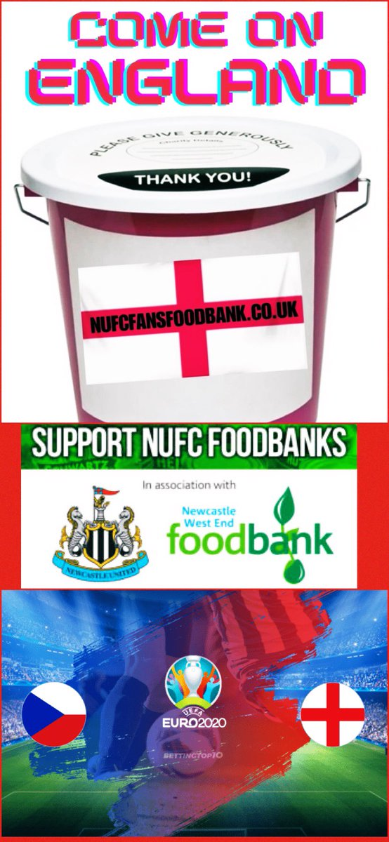 A 1-0 win for @GarethSouthgate's #ThreeLions with another @sterling7 effort👏Thanks for your donations in our international matchday bucket today, any last minute ones please donate to the @WEFoodbank via the link below #ItsComingHome #Eng #NUFC  🏴🦁🦁🦁  https://t.co/BNYAhxq0C6