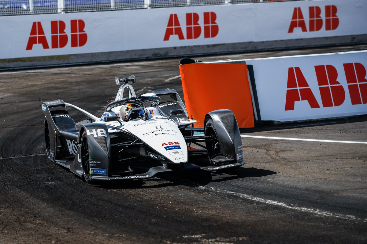 Image for the Tweet beginning: Re-live a thrilling two-race #ABBFormulaE