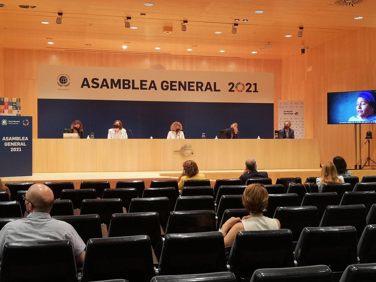 Hoy acogemos en el Patio de la Infanta la Asamblea General de @PactoMundial, la mayor iniciativa voluntaria de #RSE y desarrollo sostenible del mundo.   Una iniciativa de la que formamos parte en la tarea de alinear nuestra actividad a los Objetivos de De