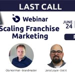 """Image for the Tweet beginning: 📣[LAST CALL] Webinar """"Scaling Franchise"""