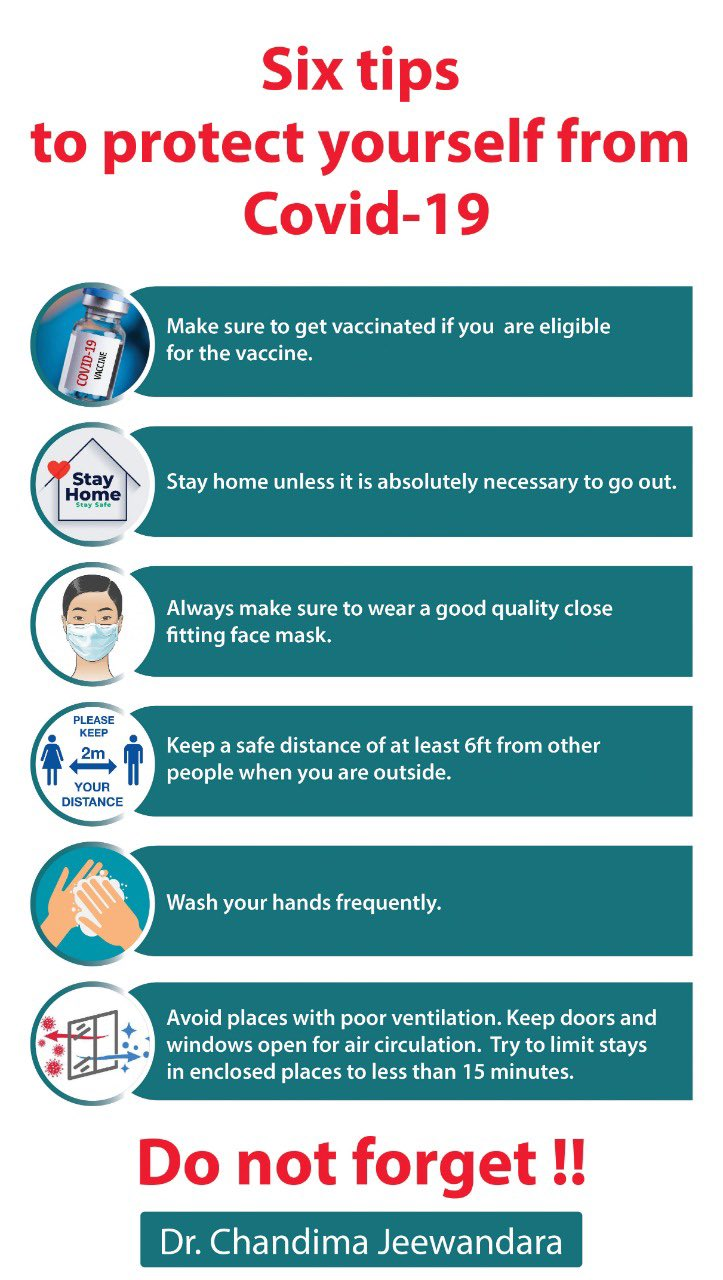 Six tips to protect yourself from COVID19.