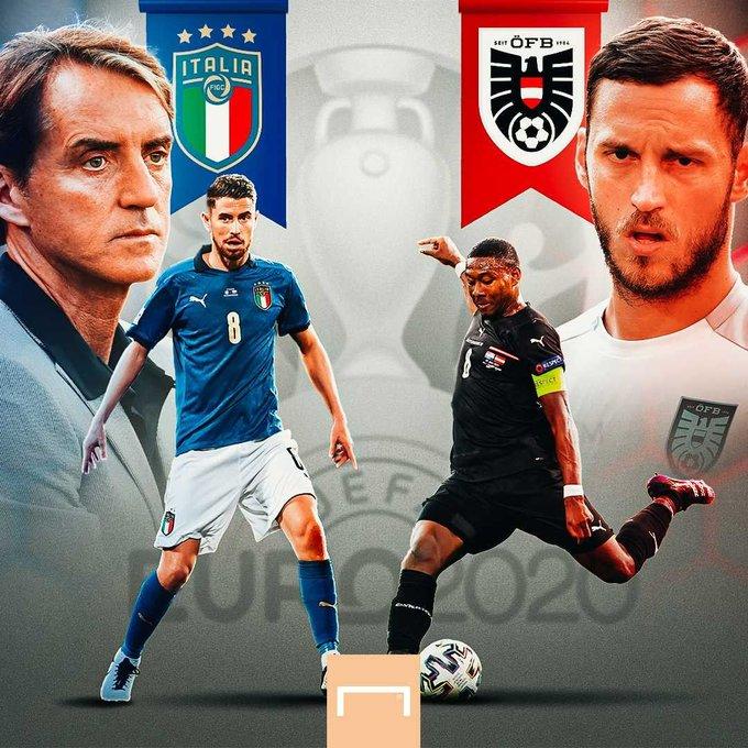 ستواجه إيطاليا منتخب النمسا في دور الـ16