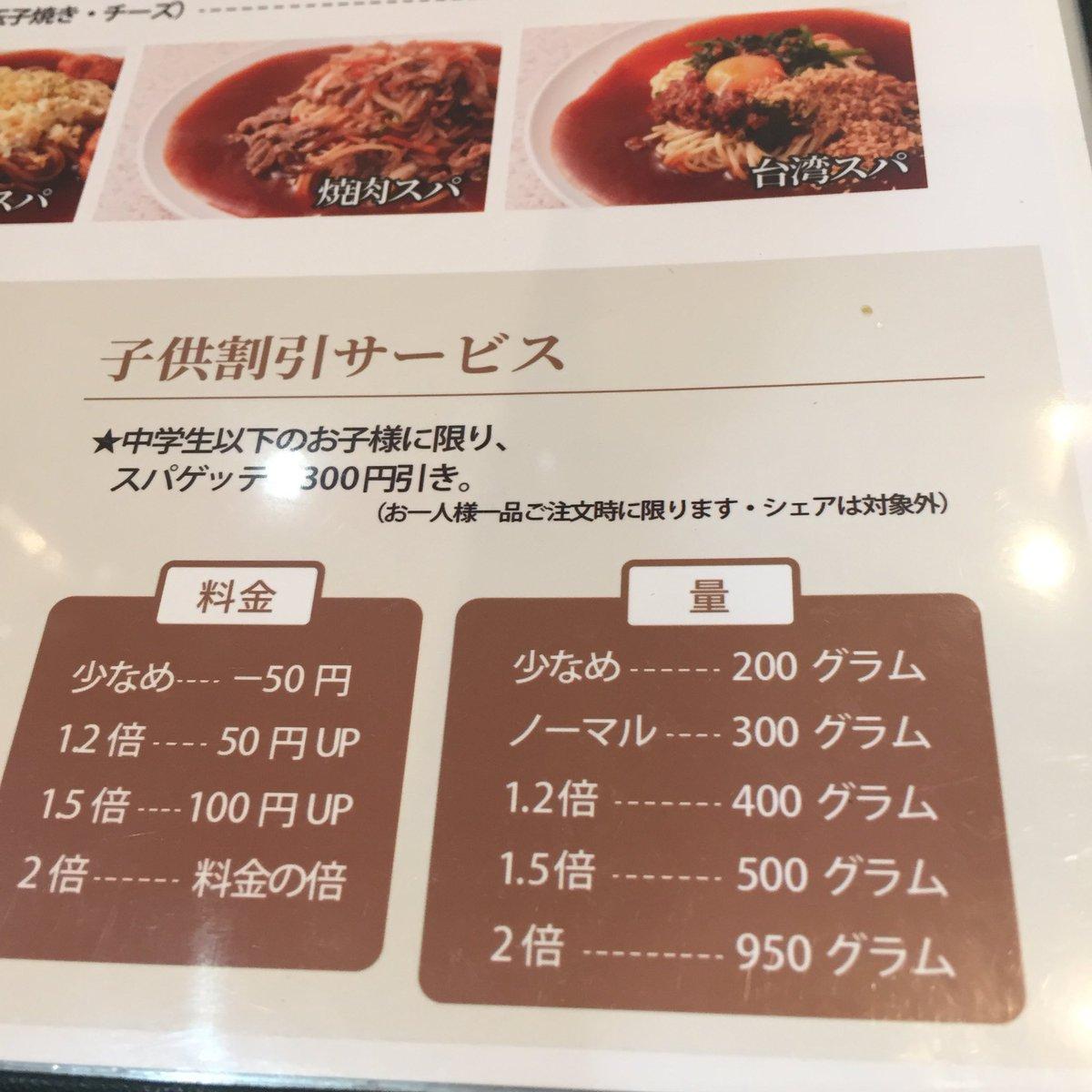 これが名古屋名物?スパゲティの2倍を選ぶと3倍を超えてくる!