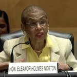 """Image for the Tweet beginning: .@EleanorNorton: """"The Constitution does not"""