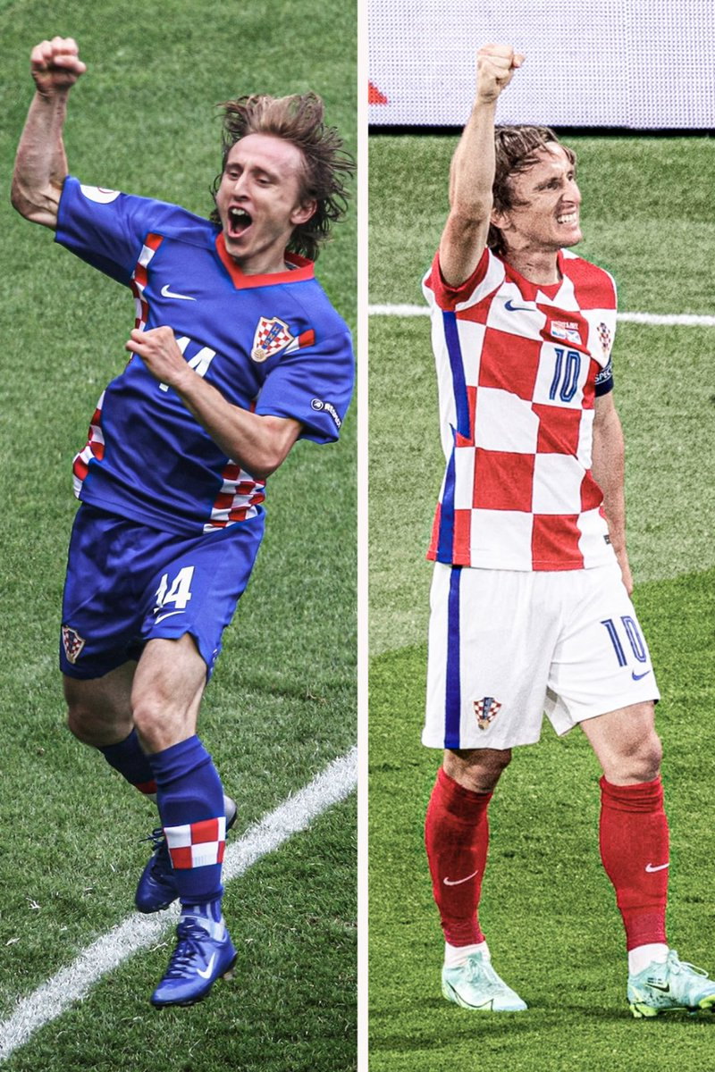 Luka Modric is now Croatia's youngest AND oldest player to score at the Euros 🇭🇷   He comes through for his nation every time 👏 https://t.co/of9xBOEzOH