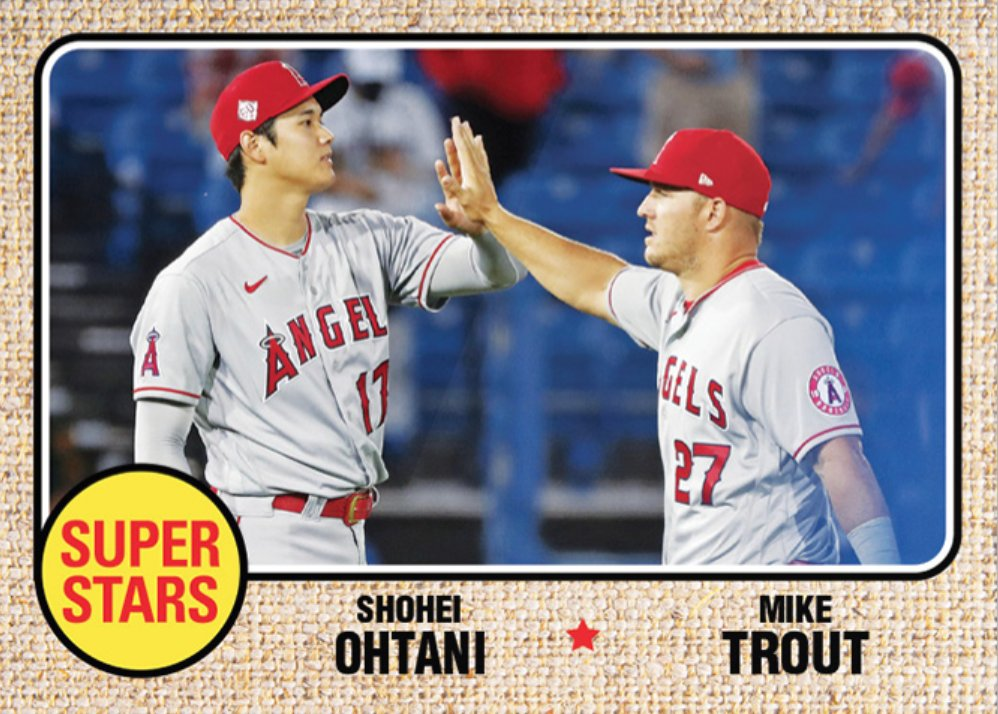 Loving this TBT subset 🙌 2021 Throwback Thursday Set # 24 brings back our 1968 Topps Super Stars design!   Look for 3 new cards every Thursday, each part of a 12-card subset spanning 4 weeks. Collect Ohtani & Trout, Bohm & Harper, and Seaver & Ryan: https://t.co/MoGMqAwDxI https://t.co/gRTs5cLgLU