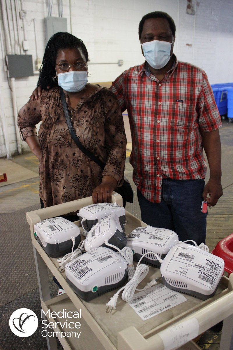 Our mission is made possible by incredible partners like @MedServCo! These nebulizers, donated by MSC earlier this year, are headed to Gweru, Zimbabwe where recipients Diana & Onias are opening the West Side Health Care Center Thank you for helping make this possible, MSC!