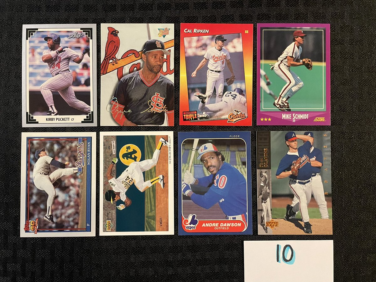 #EClectikStax Retro ⚾️ Sale  FCA Edition - 100% of proceeds go to FCA from this sale  Lot 10  50¢ each  3 for $1  Card condition as shown in photo  See pinned tweet for info  RTs and 🏷 greatly appreciated!  @HobbyConnector  —————————————— https://t.co/XJCas0LSQN