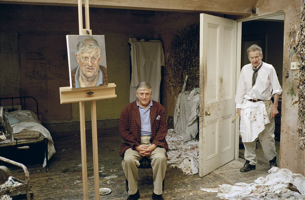 🔊Discover how David Hockney sat for over 100 hundred hours to allow Lucian Freud to create one of the most masterful peer-to-peer portraits of all time... https://t.co/9O27lBoUdz  #SothebysContemporary #BritishArt https://t.co/QNqzzy2wDv
