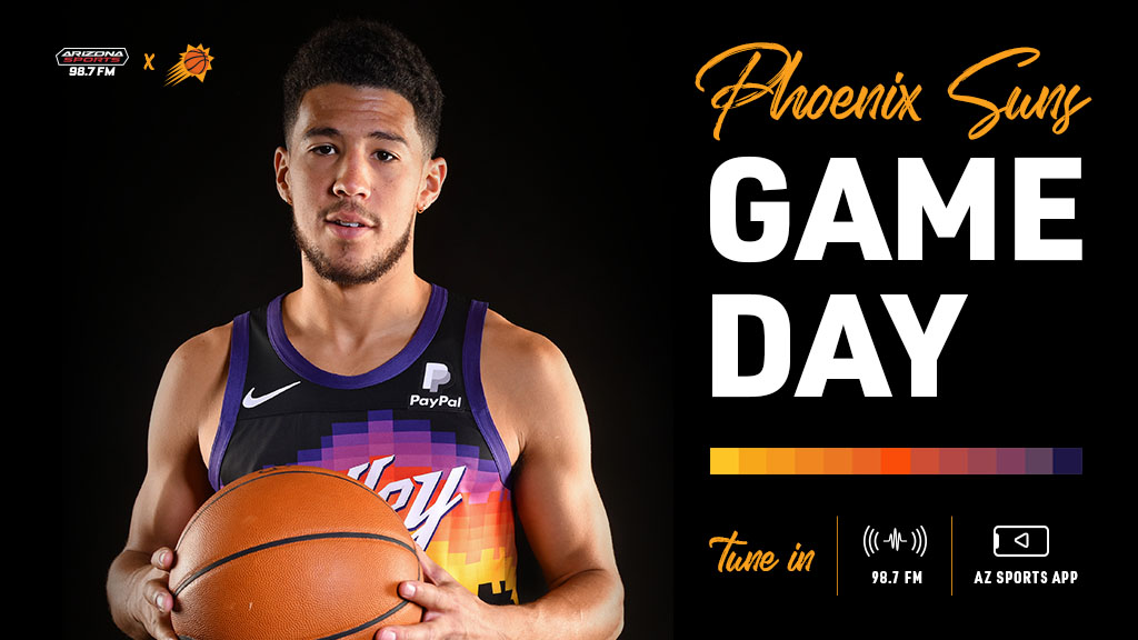 🏀☀️ It's time for #Suns playoff basketball! ☀️🏀  Phoenix looks to go up 2-0 in the Western Conference Finals against the Los Angeles Clippers.  Tune to 98.7 FM for all the action. #RallyTheValley https://t.co/b6Fxqntwed