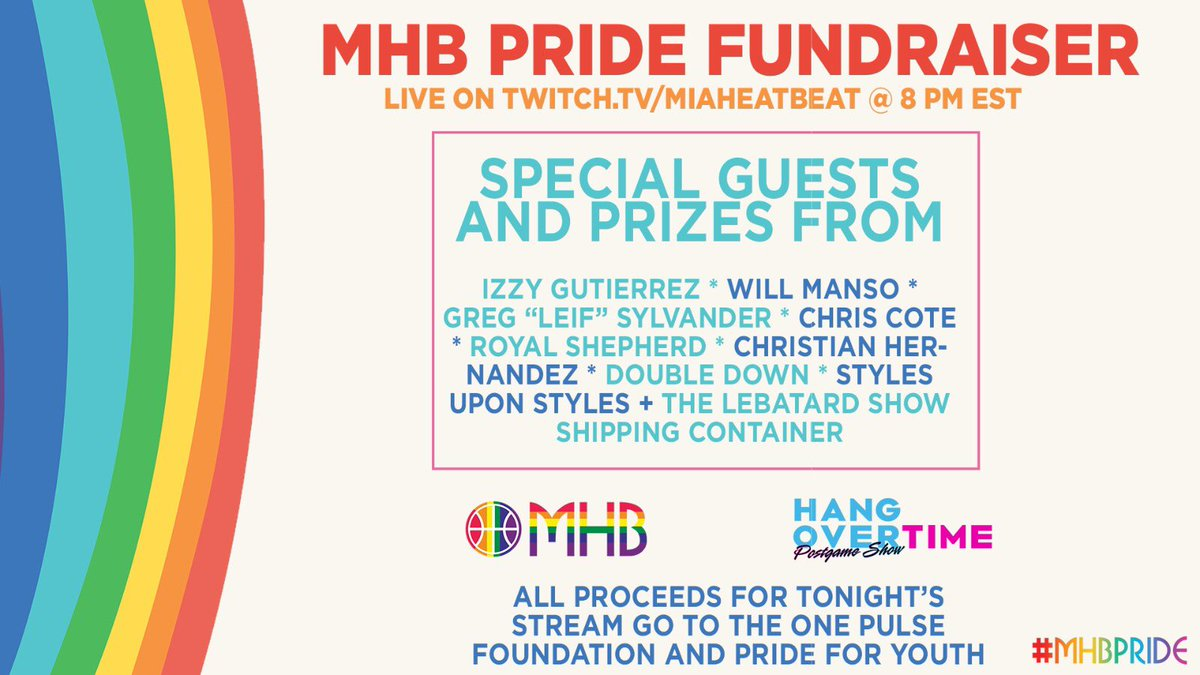 WE ARE GOING LIVE ON TWITCH NOW  Our big #MHBPride🏳️🌈 fundraiser is here as we get you ready for the draft lottery, Clippers-Suns and plenty of Sixers slander  @IzGutierrez joins us   @GregSylvander @NekiasNBA @RoyalAShepherd and others stopping by  https://t.co/YDSMYWm6l0 https://t.co/K88HgNPx8t