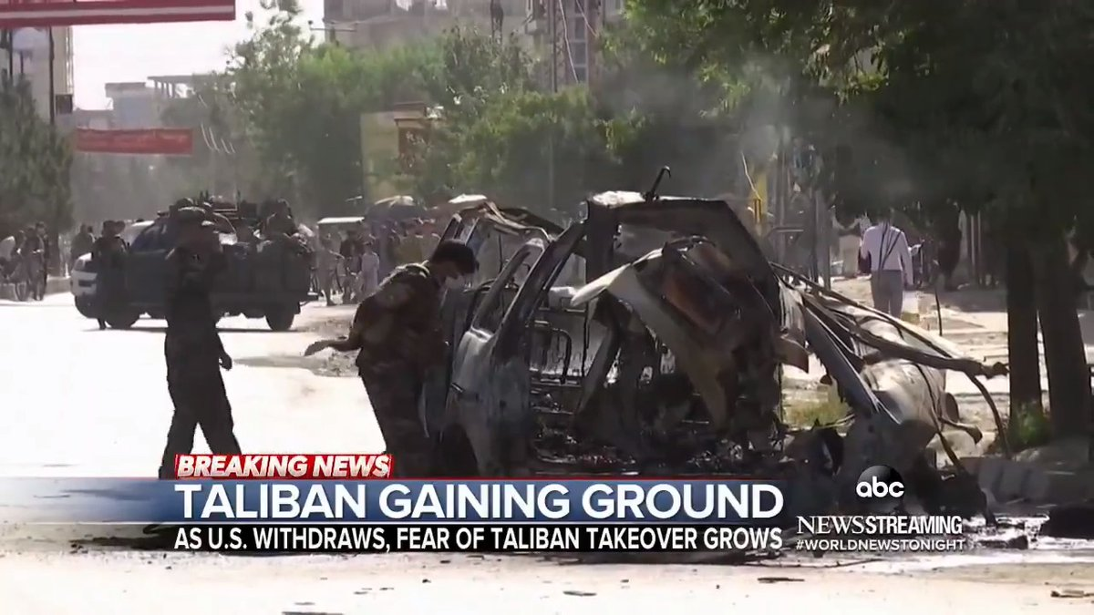 TALIBAN GAINING GROUND: With the U.S. withdrawal over halfway complete and no peace deal in place, @MarthaRaddatz is one-on-one with a Taliban elder in Afghanistan; and the alarming new images reportedly showing Afghan troops handing over their weapons. https://t.co/exAnAK6sYQ https://t.co/e9LeJZAlfc