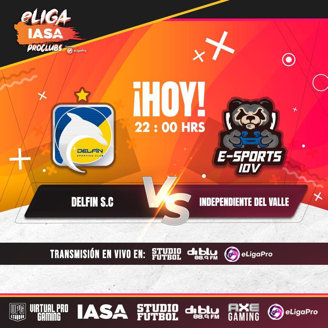 Rival complicado en una nueva fecha en la @eligapro. Vamos cetáceos por una victoria más.  #eligaiasaproclubs  #proclubs #11vs11 #vamoscetáceos #ElOrgulloDeManabí #eCetaceo https://t.co/eGuKsCSuy5