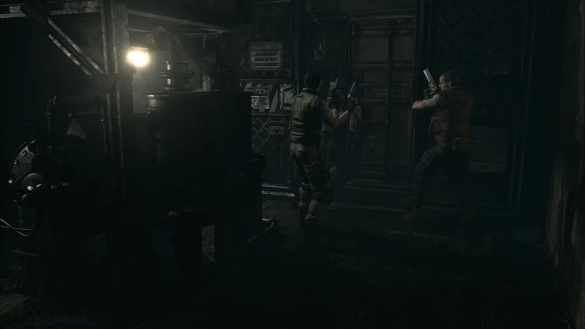 So, in general, that's the place/moment when you meet up with all the NPC you saved during the game, to run escape together.  However, they won't ever be more then two.  #REBHFun #ResidentEvil #ResidentEvilRebirth #JillValentine #ChrisRedfield #BarryBurton https://t.co/C5ix2Vh4Ns