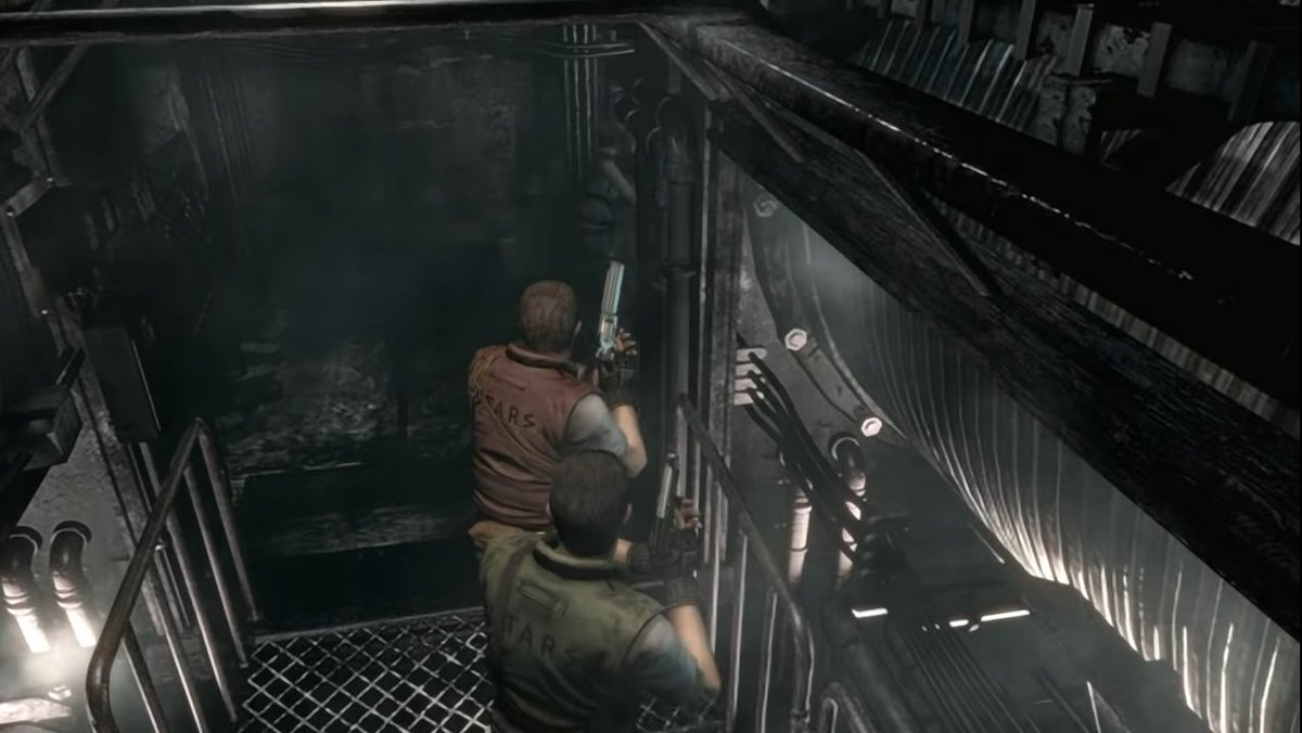 """The way NPCs follow the main character kinda reminded me old RPGs, like #FinalFantasy. But being a """"large"""" team is amazing. Wish I have here Rebecca Chambers too, just to see the canonic ending (which never occours in the game)! 😁  #REBHFun #ResidentEvil #ResidentEvilRebirth https://t.co/pLFNbNCqe8"""