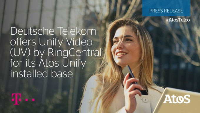 [#AtosTelco] 🆕Atos today announced that @deutschetelekom will offer Unify Video (UV) by...