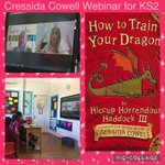Thank you so much @ReadforGoodUK for organising this webinar with @CressidaCowell !