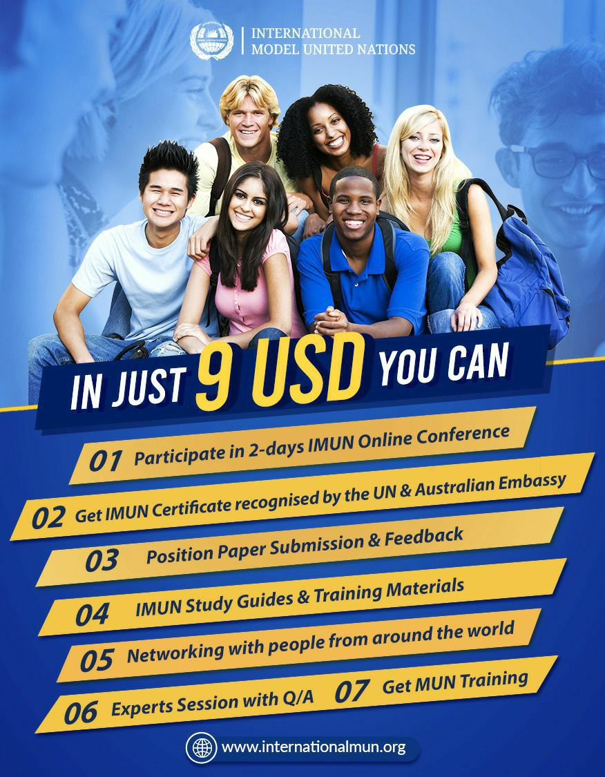 Register Now 📌  https://t.co/wvMNeK0u31  #InternationalMUN #mun #imun #modelunitednations #imun2020 #youth #globalopportunity #opportunity #conference #international #internationalconference #diplomacy #leaders #youngleaders #unitednations #un #munconference #online https://t.co/3xJN4dOsJV