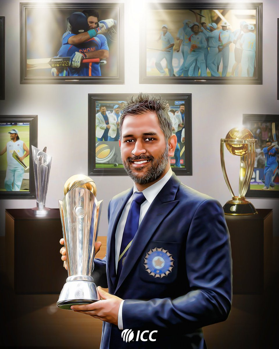 ⏪ 23rd June 2013, ICC Champions Trophy final  @msdhoni becomes the first captain in history to complete a hat-trick of ICC trophies:  🏆 2007 @t20worldcup 🏆 2011 @cricketworldcup 🏆 2013 Champions Trophy https://t.co/0EdC96t1Dl