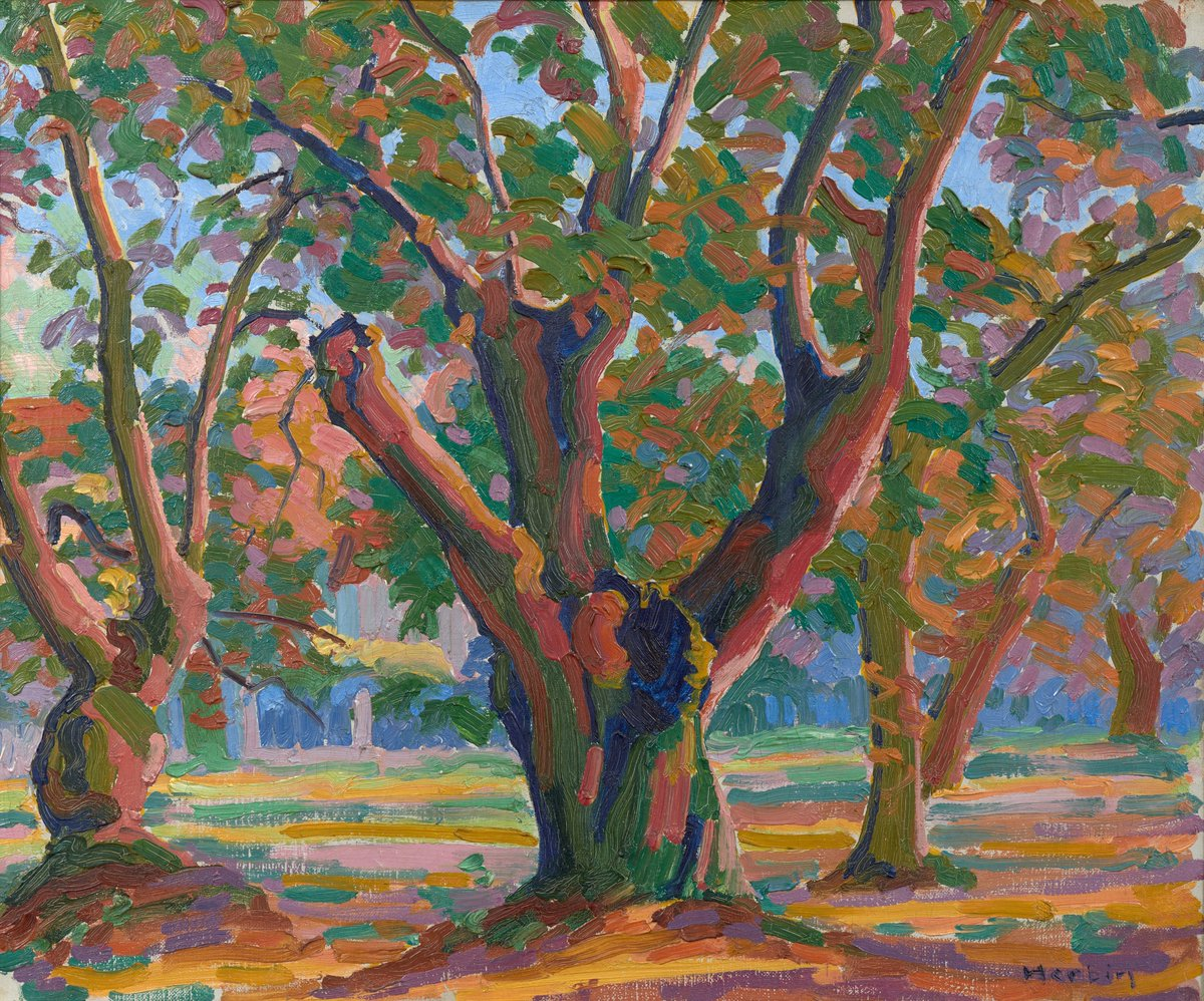 Painted in 1906 with a vivid palette and strong brushwork, Arbres is emblematic of Auguste Herbin's embrace of Fauvism - displaying his ability to translate light into form.   Read more about the work before bidding closes on 30 June: https://t.co/Cj83BcigPe  #SothebysImpMod https://t.co/etcUIRLPPK