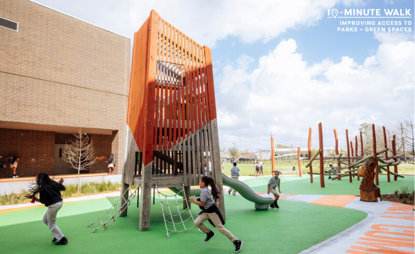 A fantastic playspace we worked on with Spackman Mossop Michaels and @tpl_org in New Orleans!  Communities need green spaces and options for play. Using schoolyards makes perfect sense :) @SMM_Aus