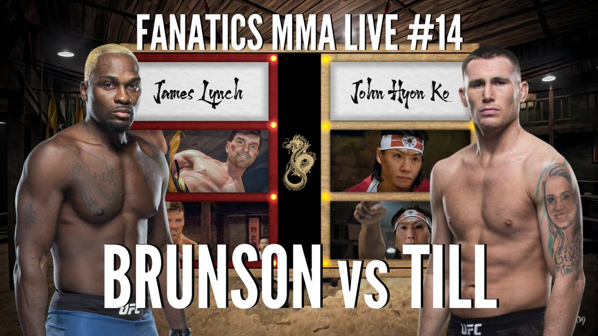 Going LIVE 🔴 in 1 HOUR (11 AM EST) with @LynchOnSports and @JHKMMA to breakdown  Derek Brunson vs Darren Till. Watch here ➡️ https://t.co/Q8f43h8aDB  Don't miss the live Q&A! #UFC263 #UFC #MMA #MMATwitter https://t.co/teLJ9x8Yeq