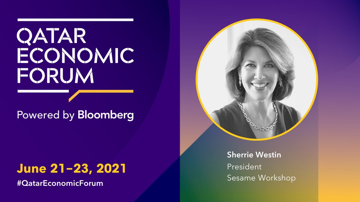 Join President of Sesame Workshop, @SherrieWestin at the #QatarEconomicForum for the roundtable discussion on Thinking Outside the Box: Alternative Infrastructures for Educations w/ code QEF https://t.co/ZOaFRKlIOi https://t.co/XofaZLPrNw