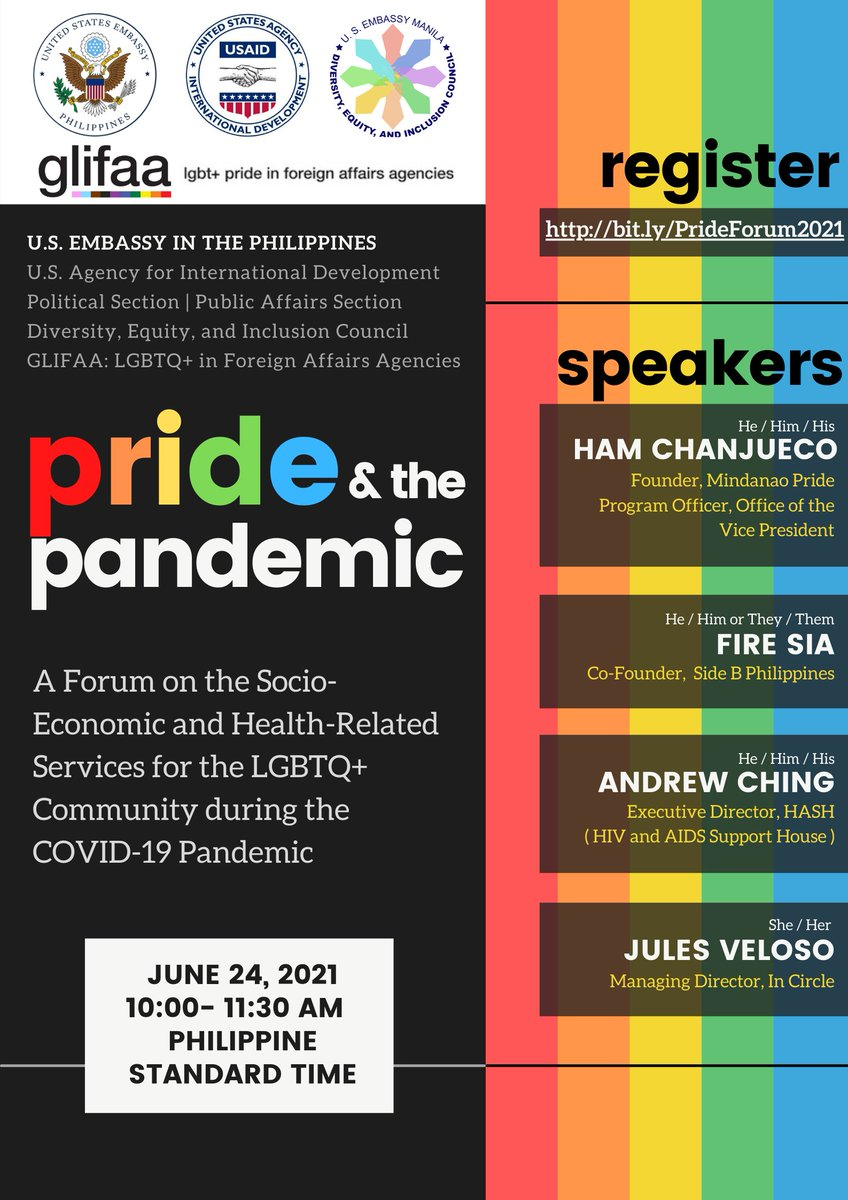 Join our #PrideMonth forum tomorrow, 10:00 a.m., as our invited speakers discuss issues affecting the LGBTQ+ community during the pandemic. Register here: https://t.co/kmVXZRe9mv https://t.co/Ut8CB5FRvj