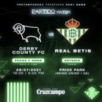 Image for the Tweet beginning: ✈️Derby Country FC, otro rival