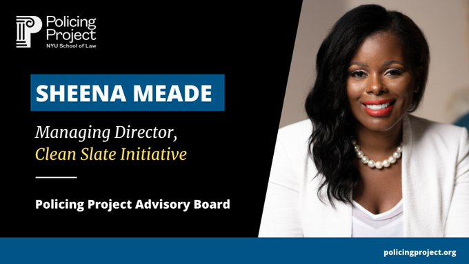Our Managing Director, @sheena_meade joins the @PolicingProject Advisory Board, a collaborative team of key policy and reform leaders who will help steer the Policing Project's mission of centering the public's voice in policing.  See more: https://t.co/uss37rspHa https://t.co/mE00PyQIaM