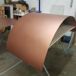 Our wood burning pizza oven is currently drying after having a specialist copper finish applied! Just look at that colour! 🔥  #PizzaOven #Pizza #CommercialOven #Restaurants