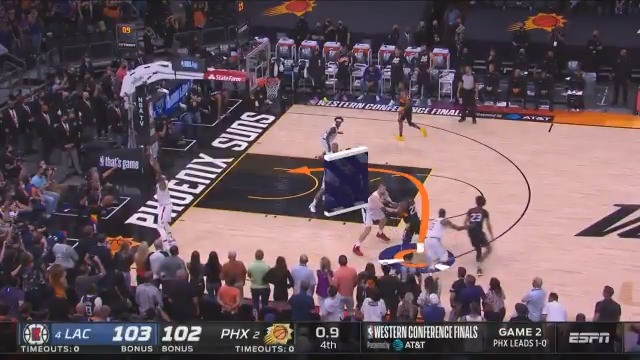 An #NBABreakdown of the @Suns incredible game-winning play as Devin Booker sets the screen, Jae Crowder tosses the lob and Deandre Ayton throws down the slam! #ThatsGame   2-0 PHX lead - Game 3: Thursday at 9pm/et on ESPN. #NBAPlayoffs https://t.co/tKClTSR6E3