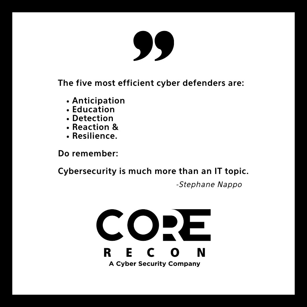 🙅♀️Don't wait till have an incident!  🛡️The best defense against cyber attacks start with anticipation!  👏Take action now!   #corerecontx #staycomposednotexposed #cybersecurity #cybersecuritynews #corpuschristi #texas #florida #lousiana #stephanenappo https://t.co/kGCchZj9tO