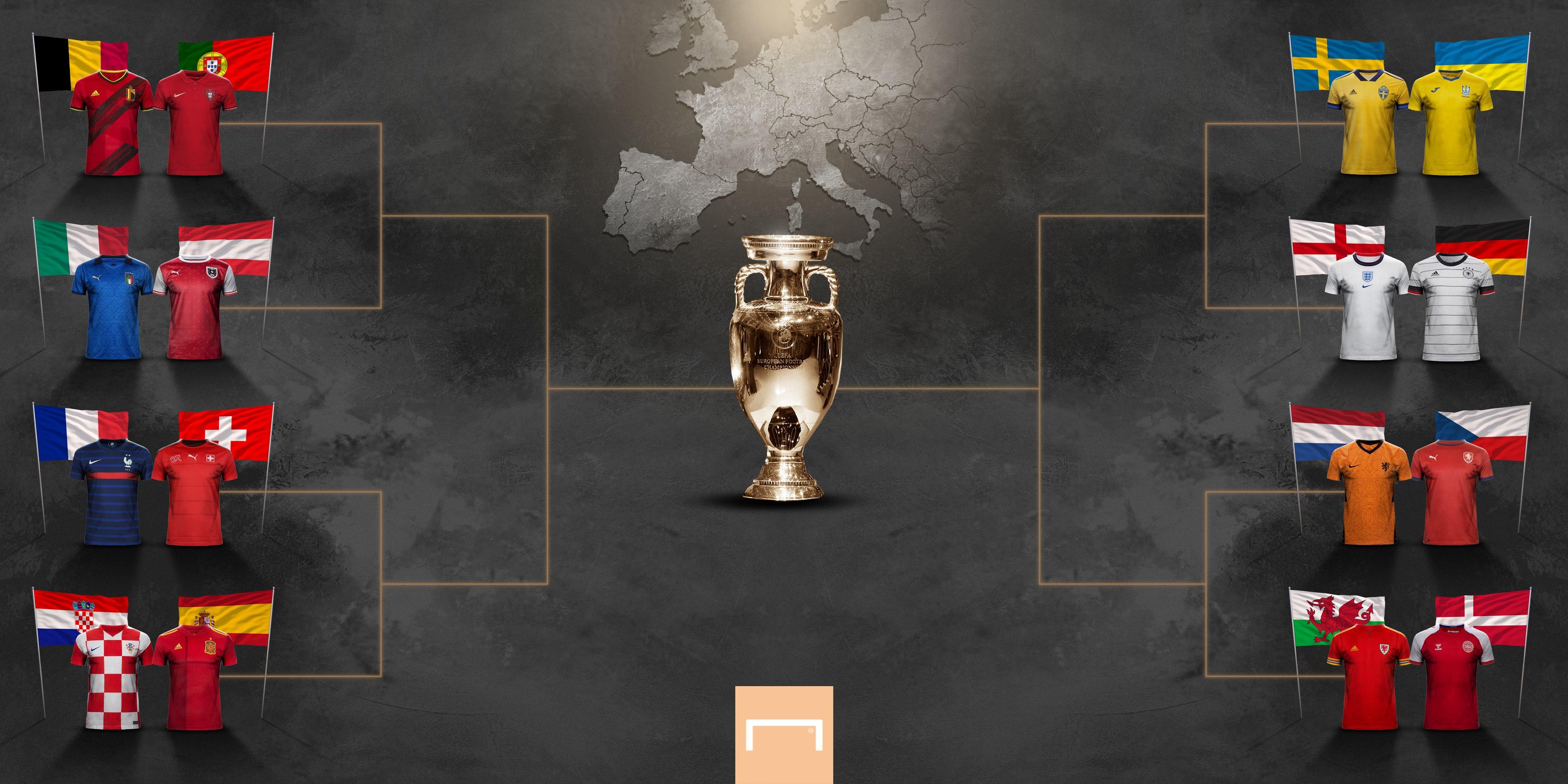Confrontos das oitavas de final pela Euro 2021