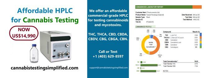 cannabistest1: Intuitive HPLC software  Peak Auto Detection  Testing Methods  Calibration Curves  Calibration Log  Sample Receiving Log  Sample Preparation Protocols  Customizable Reporting System  #cannabisindustry #testing #cannabissociety #moonbeam #samples #sale #machine #thc #hplc #USA