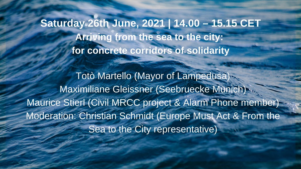 Looking forward to moderate the 'corridors of solidarity' panel this Saturday at @FromSea2City conference in #Palermo! #NoMoreCamps #LeaveNoOneToDie @EuropeMustAct