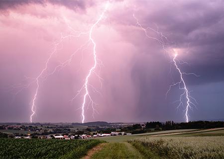 Retour sur une chasse en #Alsace, ce 18 juin. Arbre fendu et #éclairs ramifiés sont au programme ! Merci à Guillaume Scheib pour ce beau reportage ->