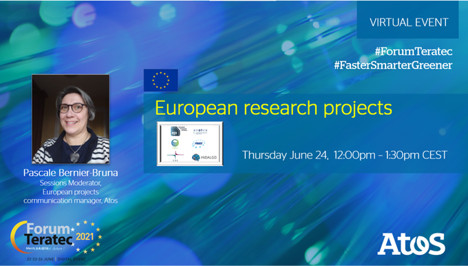 Follow the last 🇪🇺 European projects session at #ForumTeratec, today Thursday...