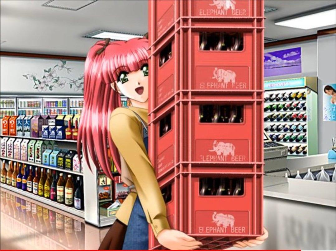誰が見ても、ビールケースを重ねて運ぶのは無理!