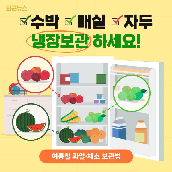[6월 24일 퇴근뉴스]#과일 #채소 #보관법맛있는 여름 과일과 채소, 안전하게 먹는 방법은? https://t.co/AwxG5yEBqg https://t.co/dtwEXlOU20