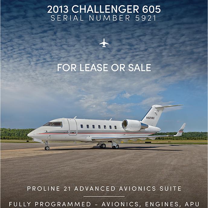 New to market - #Challenger 605 for lease or sale at @OGARAJETS  Fully programmed - avionics, engines, APU Fresh 96 month inspection - Feb 2021 More details at: https://t.co/TAc7WBd0wO  #bizjet #bizav #aircraftforsale #privatejet #privateflying #jetforsale #businessaviation