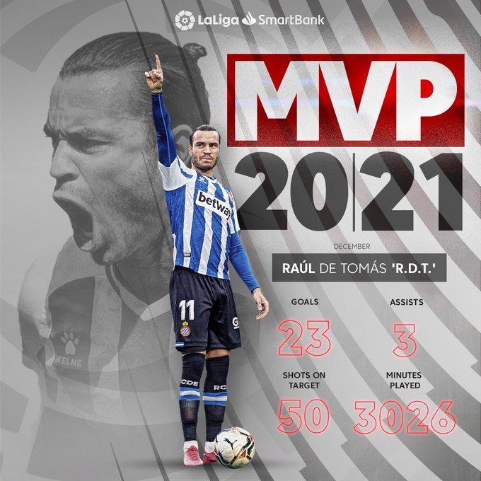 نجم إسبانيول   راوول دي توماس    هو أفضل لاعب
