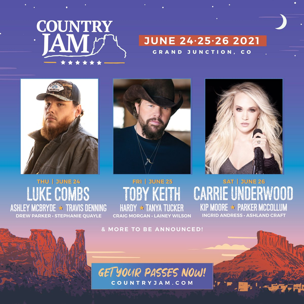Looking forward to getting back on stage for @CountryJamCO in beautiful Colorado this weekend! Hope to see you there! https://t.co/kU2bEFByzE