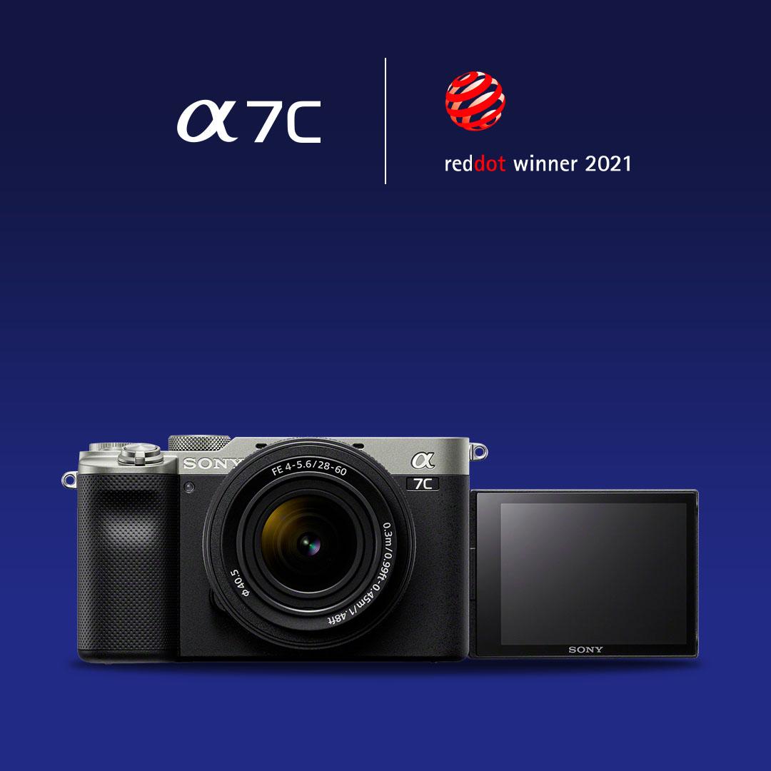 #Vollformatkamera im kompakten Format: Als kleinstes und leichtestes Vollformat-Kamerasystem wurde die #SonyAlpha 7C ebenso mit dem Red Dot #Award ausgezeichnet. @reddot  AT: https://t.co/NTn8HE3esz  CH: https://t.co/KEVAqq1Oku https://t.co/DavAUpiWDj