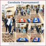 Image for the Tweet beginning: An afternoon game of cornhole