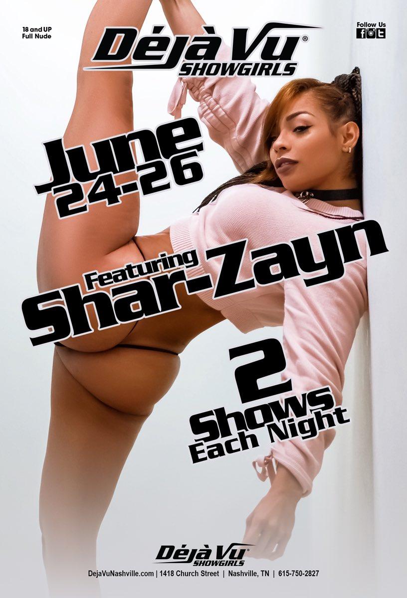 ***STARTING TONIGHT***  @shar_zayn   Live June 24-26  🔥🔥🔥 . . . #DejaVuNashville #VuWorldOrder #NashvilleEvents #SharZayn #FeatureEntertainer