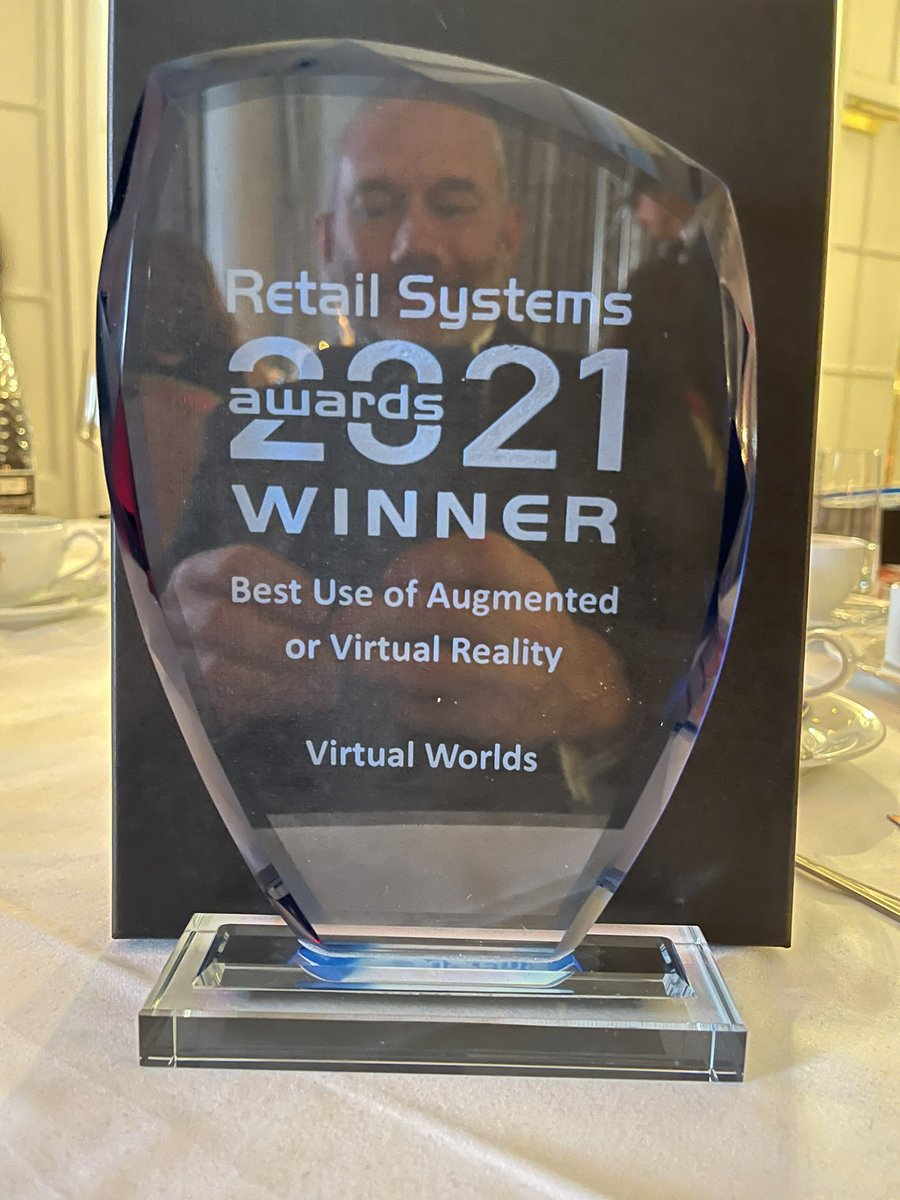Virtual Wolrds wins 'Best Use of Augmented or Virtual Reality' at the 2021 Retail Systems Awards. #virtualworlds @virtualworlds3D