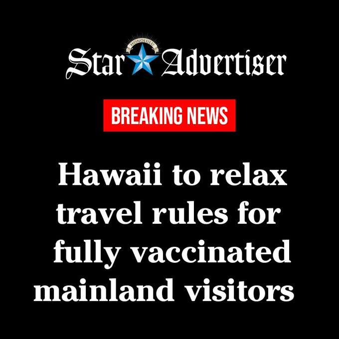Hawaii to drop rules for vaccinated travelers Photo