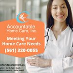 Image for the Tweet beginning: Meeting your homecare needs. #AccountableHomeCare #Licensed