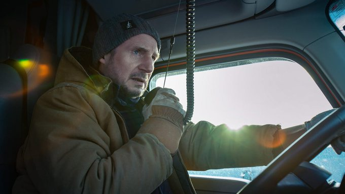 It's Liam Neeson vs surface tension in Netflix's passable thriller The Ice Road Photo